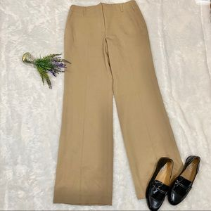 NEW J. Crew Favorite Fit Beige Wool Trousers